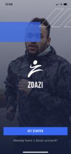 Zoazi login screen